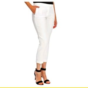Joseph Linen Blend Stretch Cropped Trousers